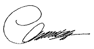 The signature of SCS, Mr Clement CHEUNG